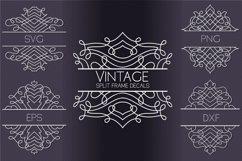 Vintage Split Frame Decal Bundle - 25 SVG cut files Product Image 1