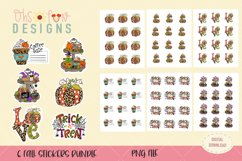 Fall stickers bundle, PNG, pumpkin coffee stickers Product Image 1