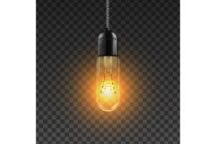 Light Bulb Vector. Solution Sign Light Bulb Icon. Bright Product Image 1