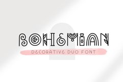 Bohemian - Decorative font duo Product Image 1