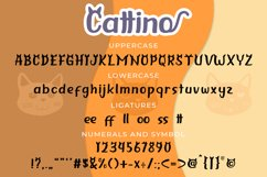 Cattino | Playful Display Font & Extras Product Image 6