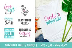 Workout SVG Bundle - Gym Quote SVG Bundle - Fitness SVG Product Image 1