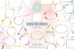 Geometric Frame Color   Decorative Border   Floral Wreath Product Image 1