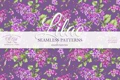 Watercolor Lilac Digital paper bag Product Image 4