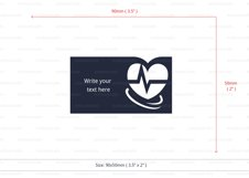 Doctor business card template cutting file Product Image 4
