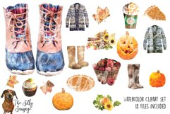 Fall Faves Watercolor Clipart Product Image 1