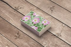 Pink Wild Rose PSD Business Card Template Product Image 3