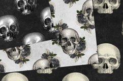 Vintage Skulls Digital Paper Product Image 2