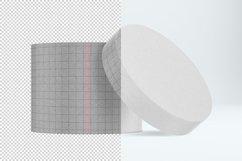 Round craft box mockup. Carton box. Product Image 2