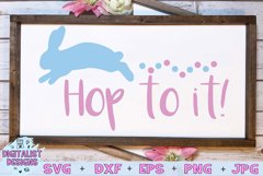 Hop to it svg, easter svg, bunny svg Product Image 1