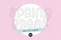 """""""SPRING BREAK"""" Sketch Font - Single Line/Hairline Font Product Image 1"""