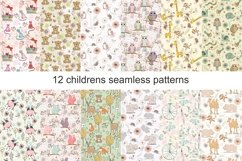 Childrens seamless patterns Product Image 1