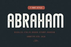Abraham Font Family 7 Style Fonts Product Image 1
