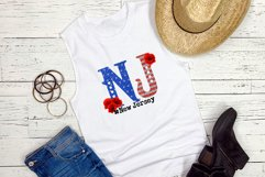 State abbreviation. USA sublimation. New Jersey Product Image 2