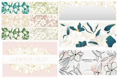 Vector banner with gold flowers Product Image 1