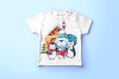 Cute Watercolor Penguins clipart Product Image 6