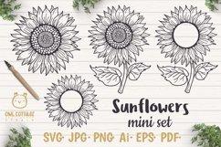 Sunflower Monograms svg, Sunflower mini bundle, Sunflower cl Product Image 1