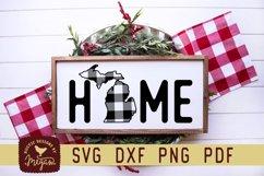 Michigan Buffalo Plaid State Home SVG DXF Cut File Product Image 1