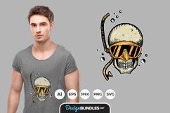 Diving Skull for T-Shirt Design Product Image 1