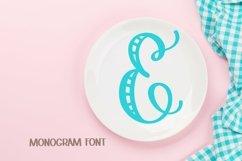 Web Font Monogram Striped Font - A Lovely Monogram Font Product Image 2