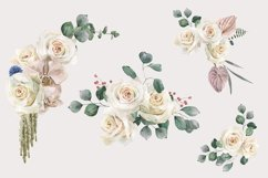 Roses and Orchids watercolor arrangements set Product Image 3