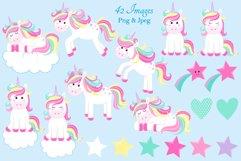 Unicorn clipart, Unicorn graphics & Illustrations, Unicorns Product Image 3