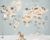 World Map with animals Product Image 2