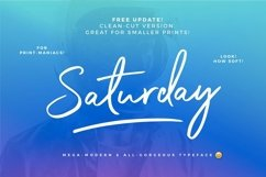 The Saturday Typeface Product Image 2