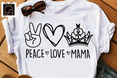 Peace Love Mama - Mother's Day SVG DXF EPS PNG Product Image 2