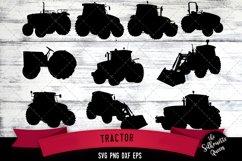 Tractor svg file, farm svg cut file, silhouette studio Product Image 1