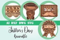 Bundle Fathers Day layered 3d svg dxf Multi layer mandala Product Image 1