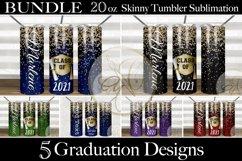BUNDLE Graduation 2oz Skinny Tumbler Sublimation Product Image 1