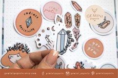 Gemstone Printable Stickers   Cricut Design Sticker Sheet Product Image 5