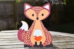 Fox Easter egg holder design SVG / DXF / EPS Product Image 3