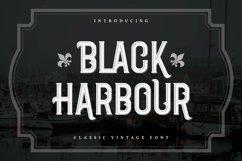 Black Harbour   Classic Vintage Font Product Image 1
