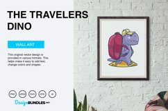 The Travelers Dino Vector Illustration Product Image 3