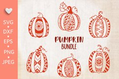 Pumpkin bundle svg. Pumpkin mandala clipart. Thanksgiving. Product Image 3