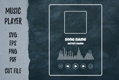 Player song covers, progress bar and button templates SVG Product Image 2