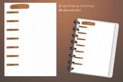 Undated monthly weekly daily planner sheets. Printable A5 Product Image 3