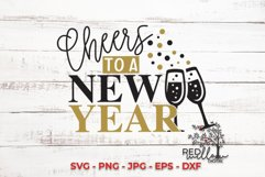 Cheers To A New Year SVG Product Image 1