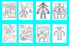 20 Robot Coloring Pages for Kids Printable PDF and PNG files Product Image 2