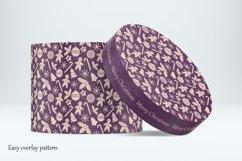 Round craft box mockup. Carton box. Product Image 4
