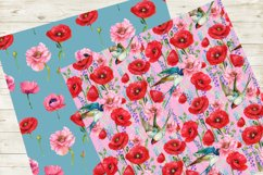 Poppies Flowers, Seamless patterns.Watercolor Flower Product Image 4