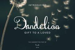 Dandelion | Handwritten Script Font Product Image 1