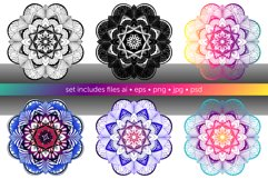 Set of bright vector mandalas Product Image 6