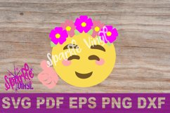SVG Emoji Smile Flowers Thumbs Up shirt sign printable cut file svg dxf eps png for cricut or silhouette Product Image 4