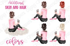 STAY HOME CLIPART - Fashion Girl Planner Graphics Product Image 2