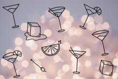 Skinny Martini | A Thin Font with Drink Doodles Product Image 4