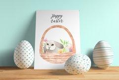 Spring Watercolor Easter Bunnies. Patterns and cliparts Product Image 6