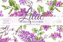 Watercolor Lilac Digital paper bag Product Image 1